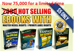 Thumbnail 75,000 HOT Selling High Quality Ebooks with mmr plr