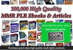 Thumbnail Massive High Quality PLR, MMR Collection 100,000 Products